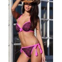 Push Up Bikini  Rosa/Svart