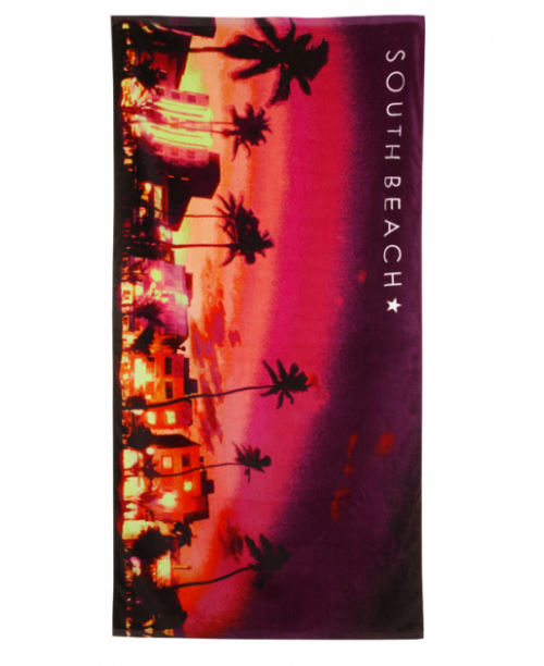 Strandhandduk South Beach Night