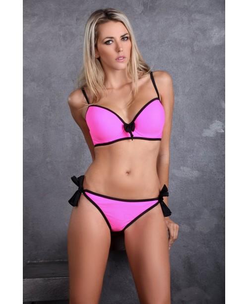 Bikiniset Bygel Big Cup Rosa/Svart
